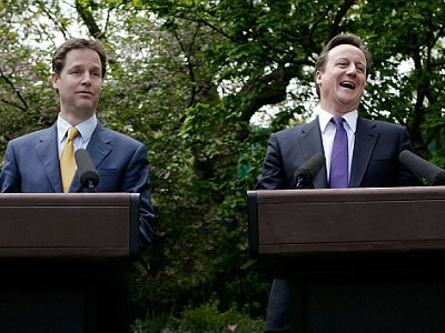 David Cameron and Nick Clegg  might need to do some team building