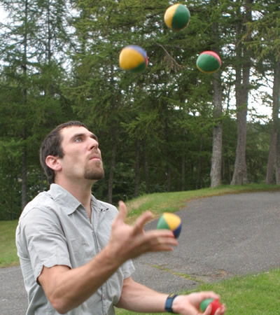 Running a business can be a bit like juggling