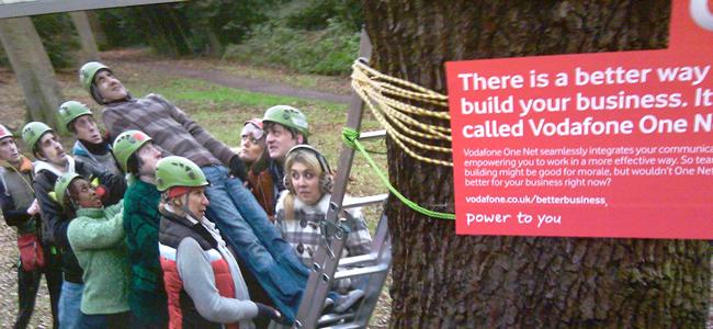 Vodafone team building advertising