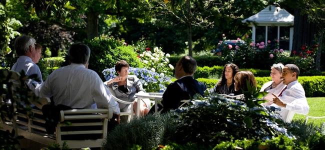 Team Meeting in a Park